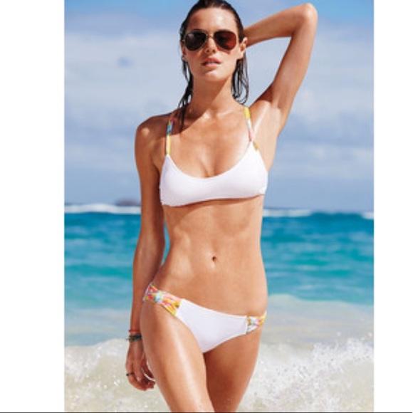 6e0feadac0603 New Victoria's Secret White Bikini with Mesh